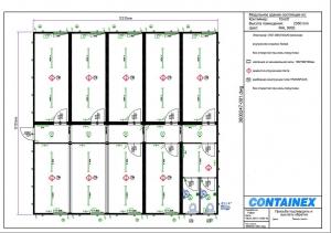1-этажное модульное быстровозводимое здание контейнерного типа CONTAINEX из  блок модулей проект 12