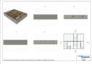 1-этажное модульное быстровозводимое здание контейнерного типа CONTAINEX из  блок модулей проект 15