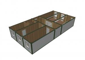 1-этажное модульное быстровозводимое здание контейнерного типа CONTAINEX из  блок модулей проект 18