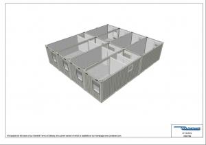 1-этажное модульное быстровозводимое здание контейнерного типа CONTAINEX из  блок модулей проект 19