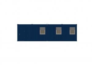 1-этажное модульное быстровозводимое здание контейнерного типа CONTAINEX из  блок модулей проект 23