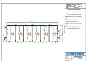 1-этажное модульное быстровозводимое здание контейнерного типа CONTAINEX из  блок модулей проект 6