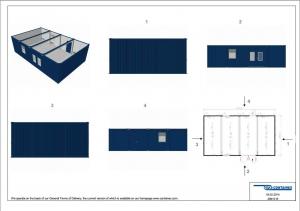 1-этажное модульное быстровозводимое здание контейнерного типа CONTAINEX из  блок модулей проект 8