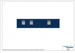 1-этажное модульное быстровозводимое здание контейнерного типа CONTAINEX из  блок модулей проект 9