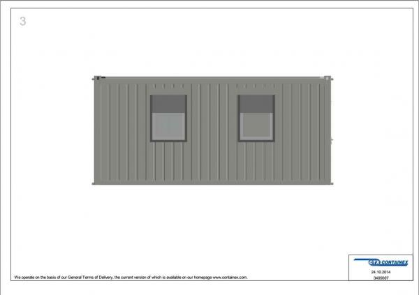 1-этажное модульное быстровозводимое здание контейнерного типа CONTAINEX из 5 офисных блок модулей проект 1