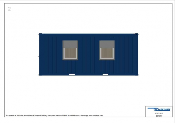1-этажное модульное быстровозводимое здание контейнерного типа CONTAINEX из  блок модулей проект 11