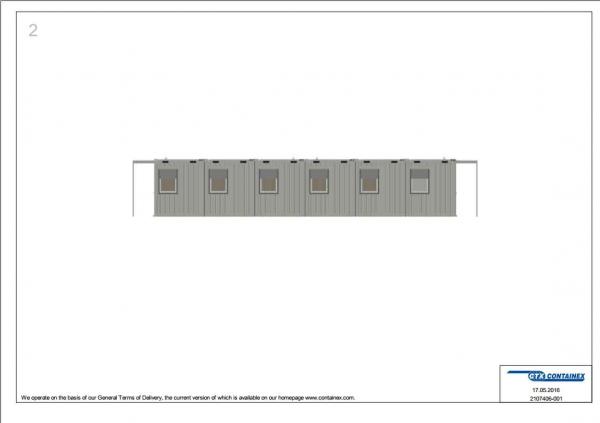 1-этажное модульное быстровозводимое здание контейнерного типа CONTAINEX из  блок модулей проект 13