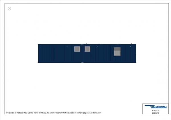 1-этажное модульное быстровозводимое здание контейнерного типа CONTAINEX из  блок модулей проект 16