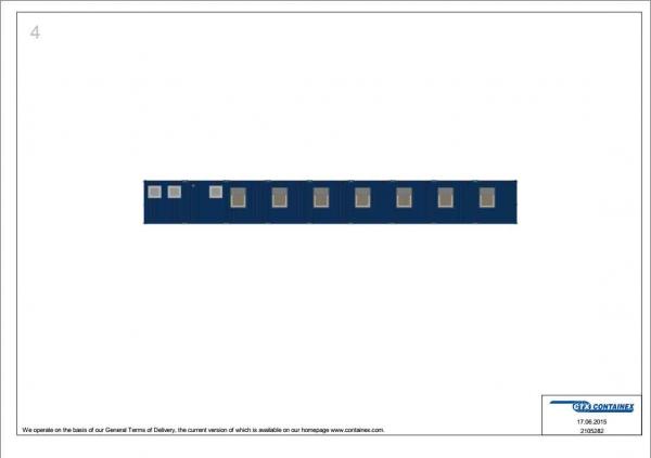 1-этажное модульное быстровозводимое здание контейнерного типа CONTAINEX из 18 офисных блок модулей проект 2