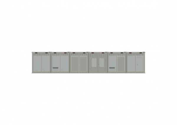 1-этажное модульное быстровозводимое здание контейнерного типа CONTAINEX из  блок модулей проект 21
